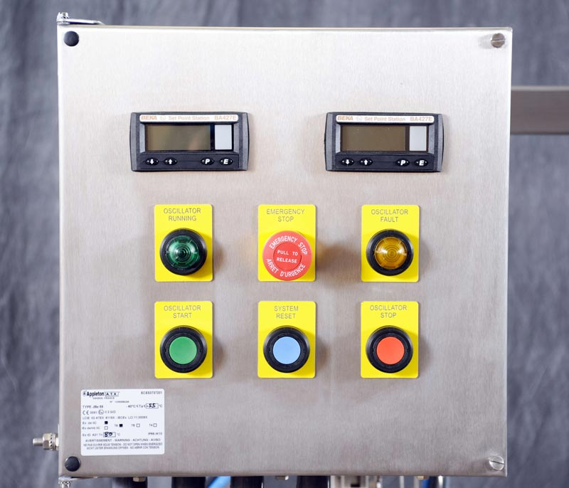 NiTech Pilot-scale high pressure - Control panel